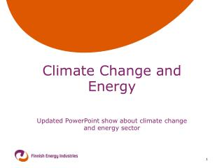 Climate Change and Energy