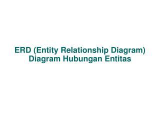 ERD (Entity Relationship Diagram) Diagram Hubungan Entitas