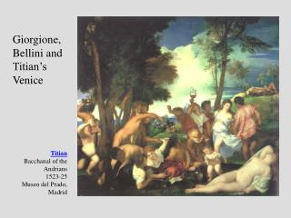 Titian Bacchanal of the Andrians 1523-25 Museo del Prado, Madrid
