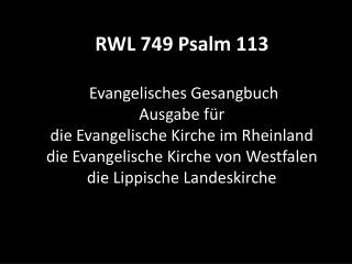 749 Psalm 113