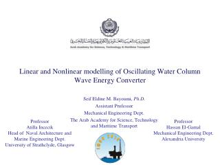 Linear and Nonlinear modelling of Oscillating Water Column Wave Energy Converter
