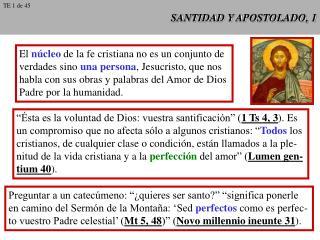 SANTIDAD Y APOSTOLADO, 1