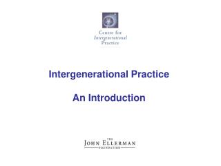 Intergenerational Practice An Introduction