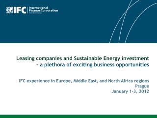 Leasing companies and Sustainable Energy investment