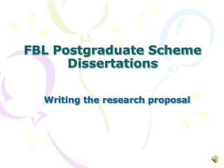 FBL Postgraduate Scheme Dissertations