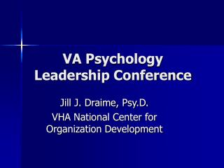VA Psychology Leadership Conference