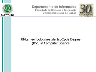 UNL's new Bologna-style 1st-Cycle Degree (BSc) in Computer Science