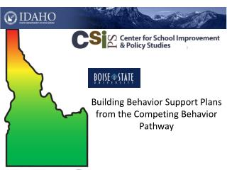 Building Behavior Support Plans from the Competing Behavior Pathway
