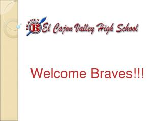 Welcome Braves!!!