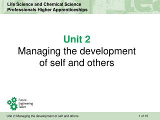 Unit 2 Managing the development of self and others