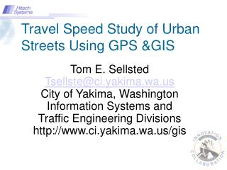 Travel Speed Study of Urban Streets Using GPS &GIS