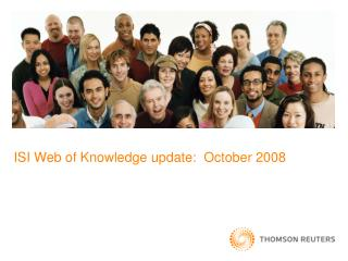 ISI Web of Knowledge update:  October 2008