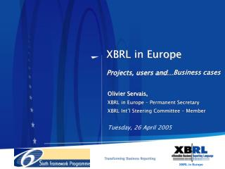 XBRL in Europe Projects, users and…