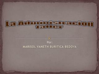 Por: MARISOL YANETH BURITICA BEDOYA