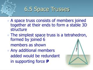 6.5 Space Trusses