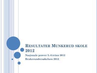 Resultater Munkerud skole 2012