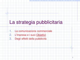 La strategia pubblicitaria
