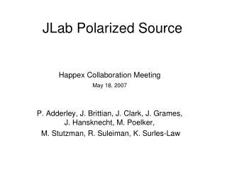 JLab Polarized Source