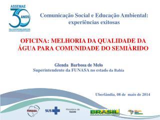OFICINA: MELHORIA DA QUALIDADE DA ÁGUA PARA COMUNIDADE DO SEMIÀRIDO