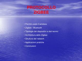 PROTOCOLLO ZIGBEE