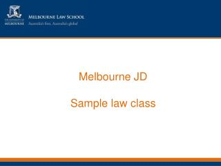 Melbourne JD Sample law class