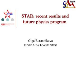 STAR: recent results and future physics program