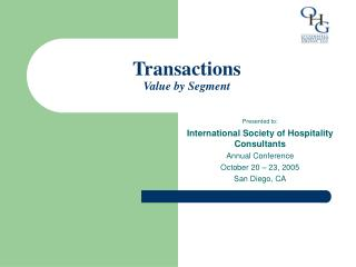 Transactions Value by Segment