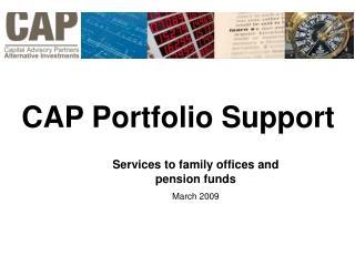 CAP Portfolio Support
