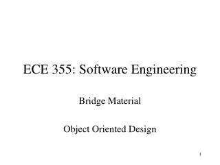 ECE 355: Software Engineering