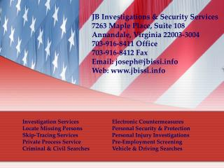 Investigation Services  Electronic Countermeasures