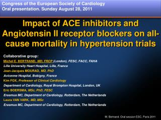 Impact of ACE inhibitors and Angiotensin II receptor blockers on all- cause mortality in hypertension trials