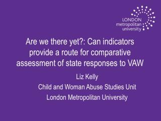 Liz Kelly   Child and Woman Abuse Studies Unit London Metropolitan University