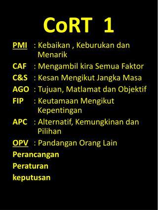 CoRT  1