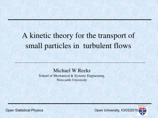 A kinetic theory for the transport of small particles in  turbulent flows