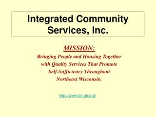 Integrated Community Services, Inc.