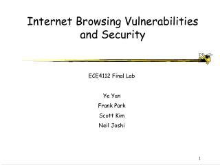 Internet Browsing Vulnerabilities and Security