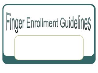 Finger Enrollment Guidelines