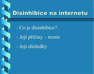 Disinhibice na internetu
