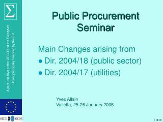 Public Procurement Seminar