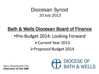 Diocesan  Synod  10 July  2013