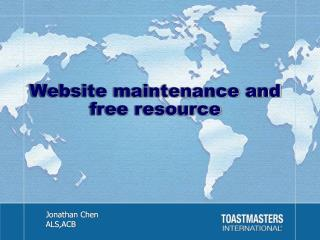 Website maintenance and free resource