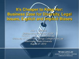 It's Cheaper to Keep Her: Business Case for Diversity, Legal Issues, Explicit and Implicit Biases