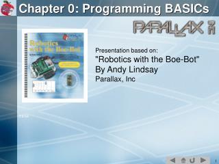 Chapter 0: Programming BASICs