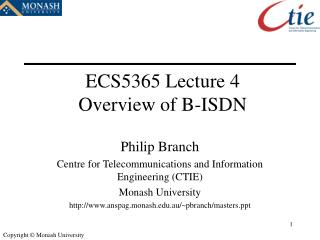 ECS5365 Lecture 4 Overview of B-ISDN
