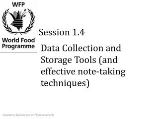 Data Collection and Storage Tools (and effective note-taking techniques)