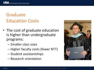 Graduate Education Costs