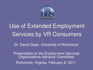 Use of Extended Employment  Services by VR Consumers