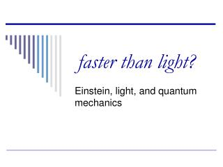 faster than light?