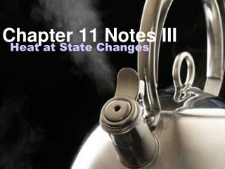 Chapter 11 Notes III