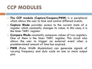 CCP MODULES